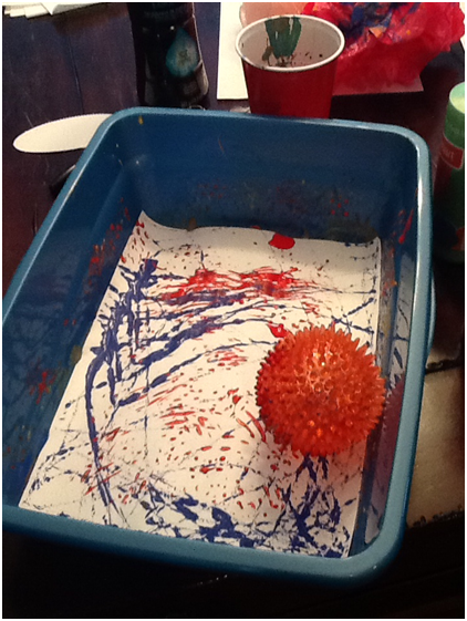 Sensory Toy Marble Painting