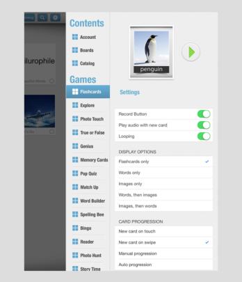 Customize each board in settings