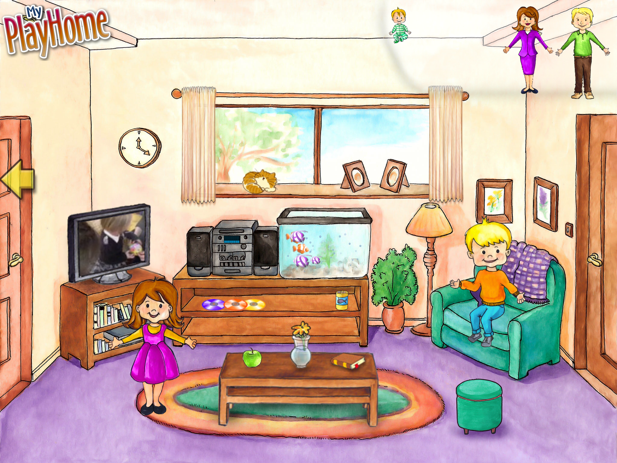 Квартира картинка для детей нарисованная