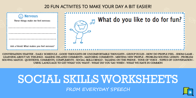 Free Social Skills Worksheets 20 Activities To Make Your Day A Bit