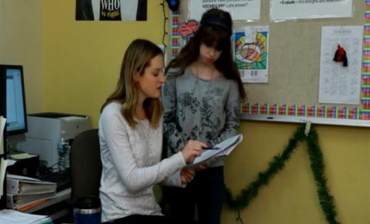 Sarah has a hard time accepting her teacher's criticism