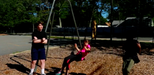 Julie learns an implicit rule of the playground and how to be fair to others