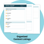 Organized Content Listings