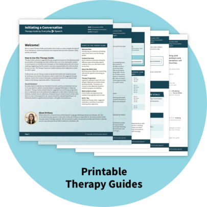 Printable Therapy Guides