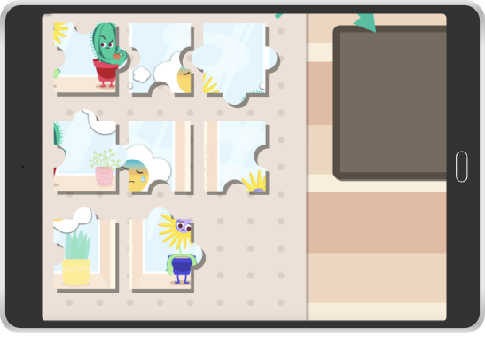 screenshot of puzzle pieces