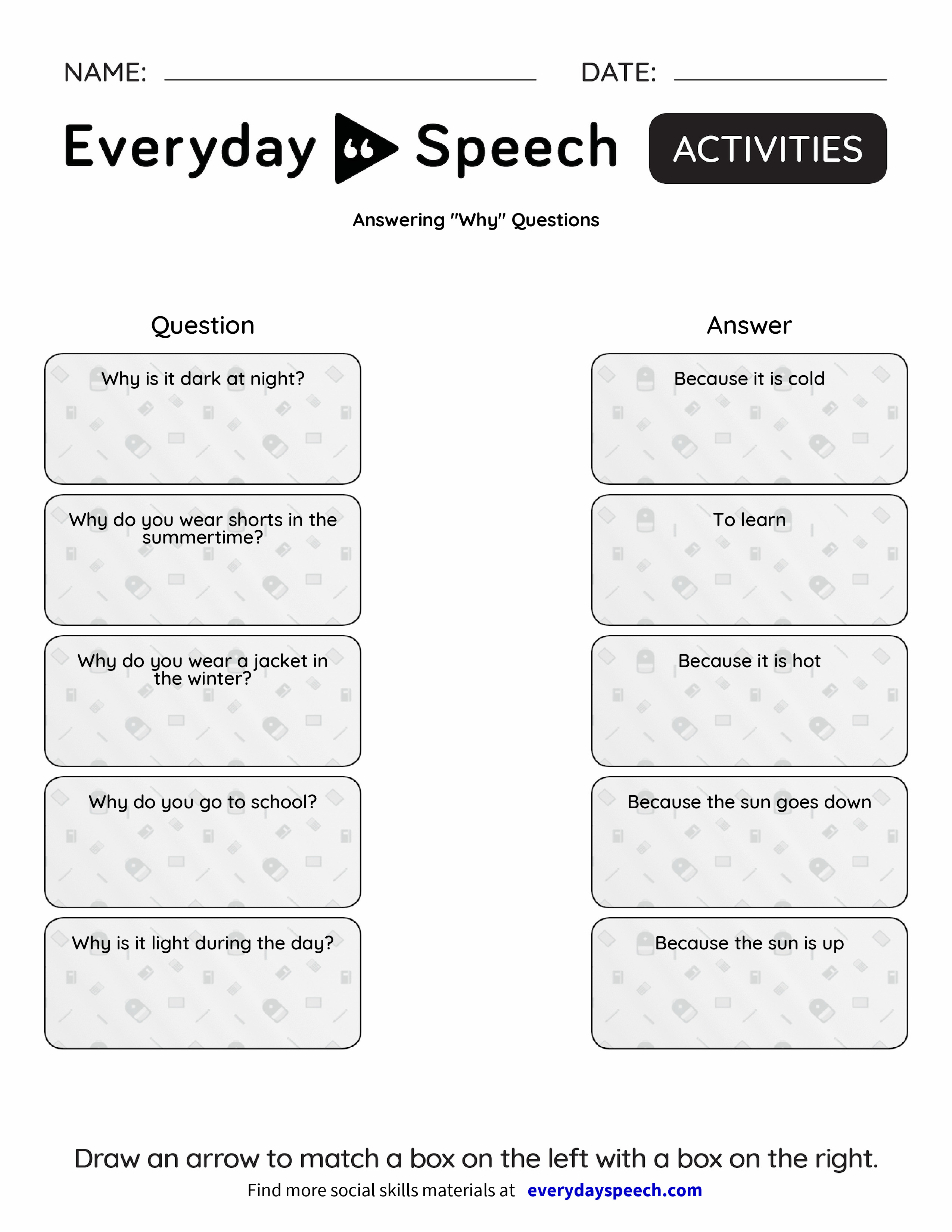 Answering Why Questions Everyday Speech Everyday Speech