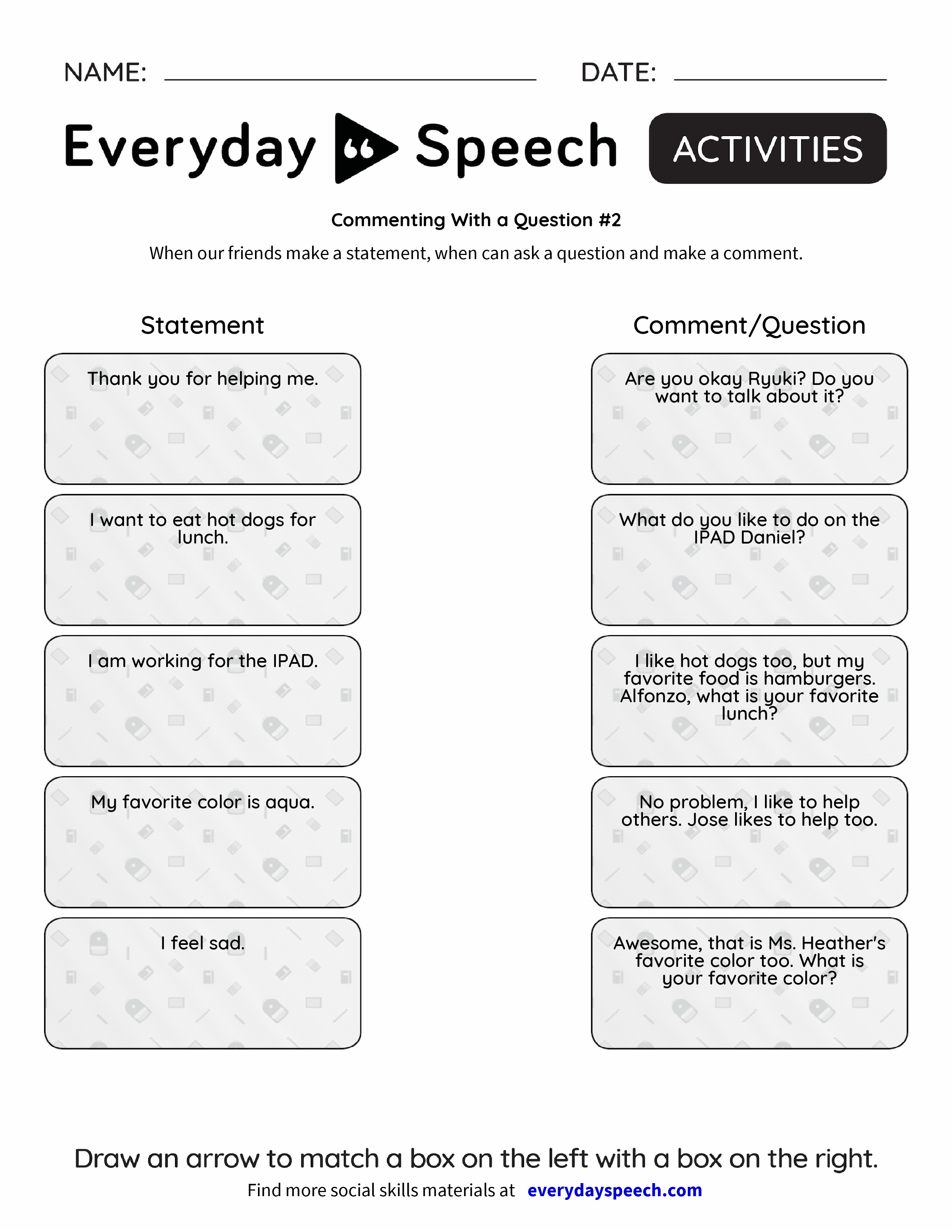 Commenting With A Question 2 Everyday Speech Everyday Speech