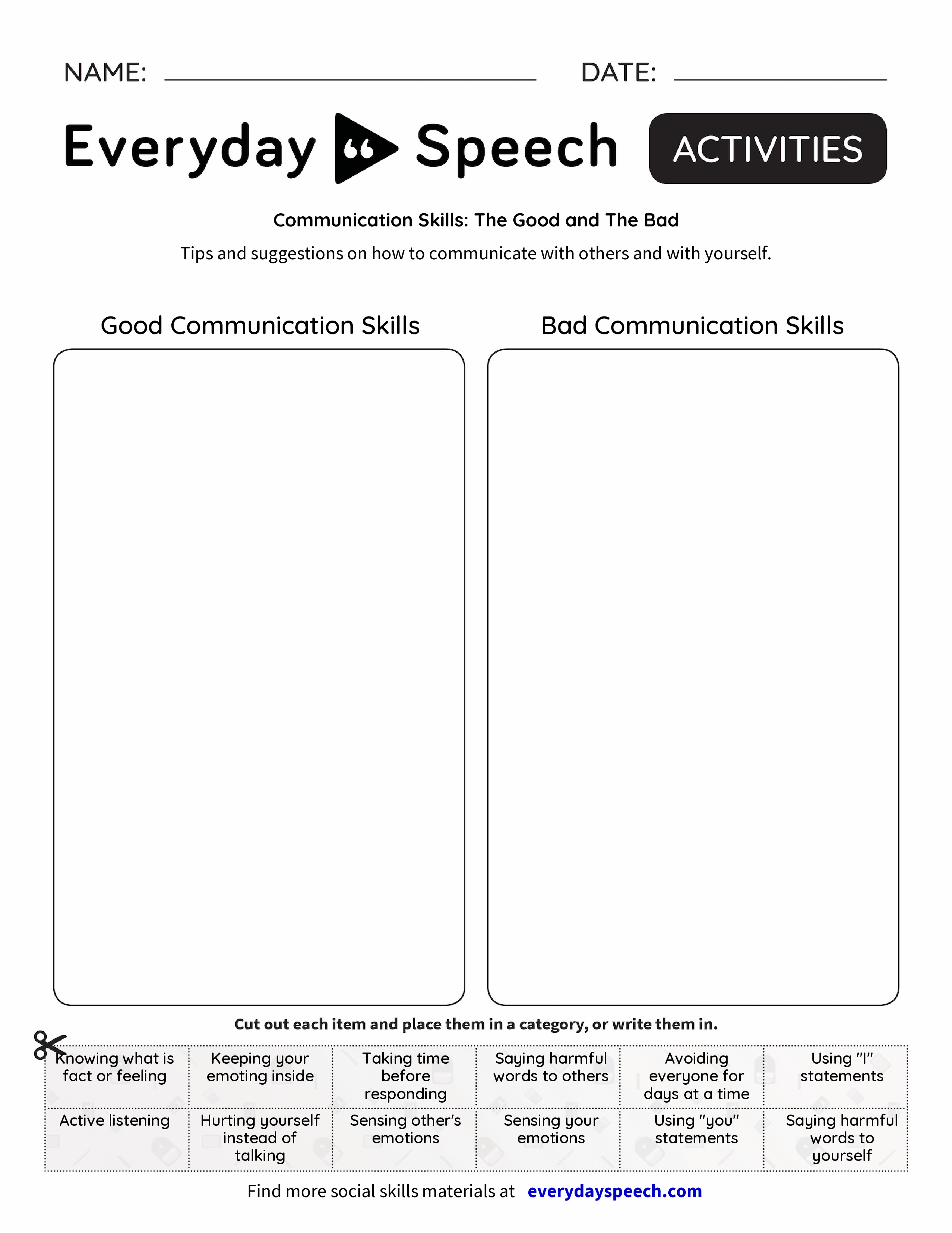 Communication Skills: The Good and The Bad