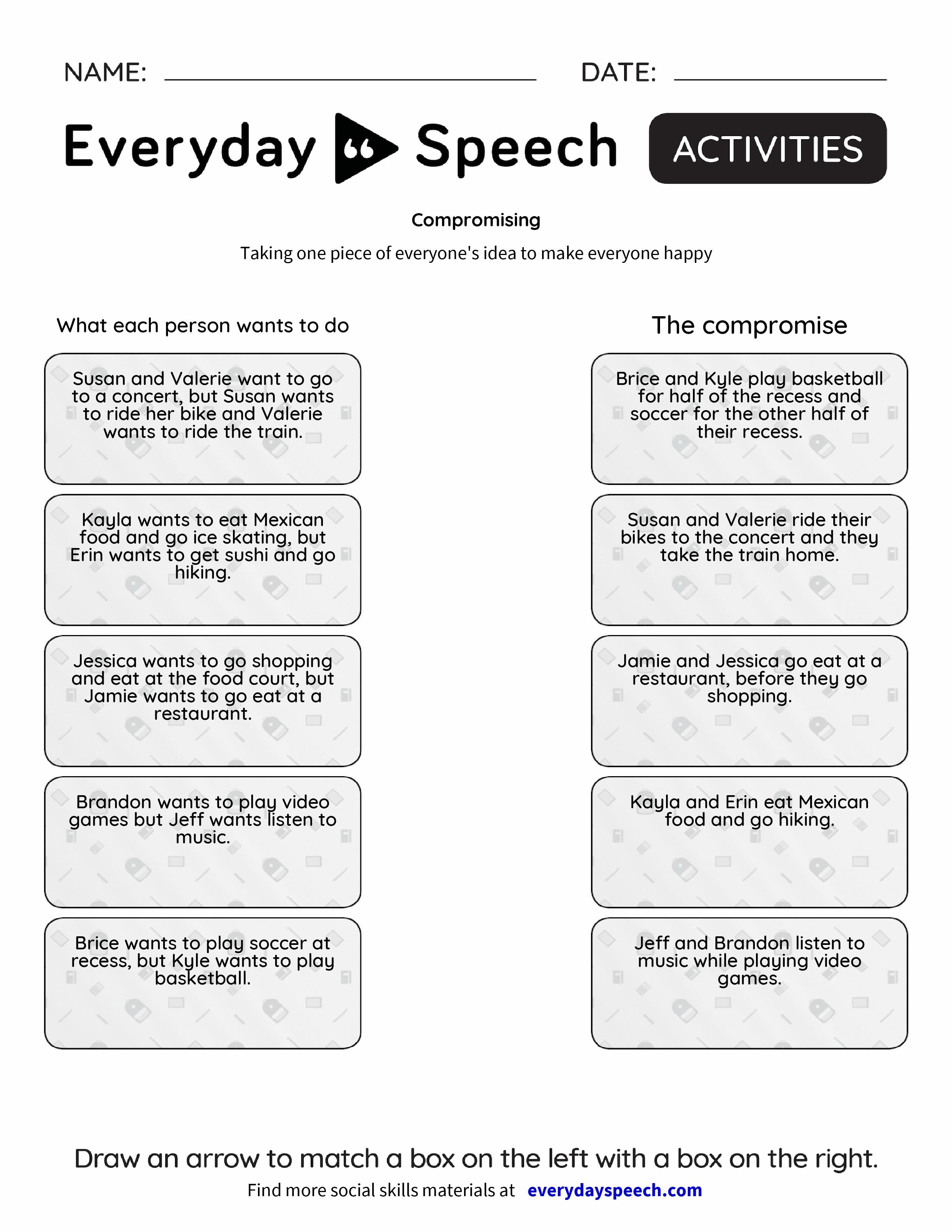 Most Downloaded Worksheets – Social Problem Solving Worksheets