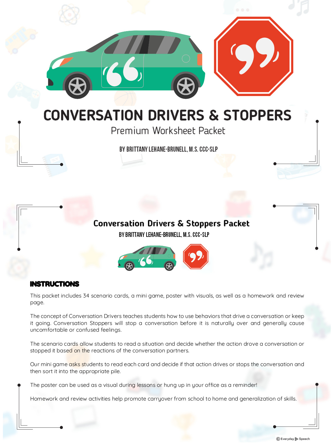 Conversation Drivers & Stoppers Premium Packet
