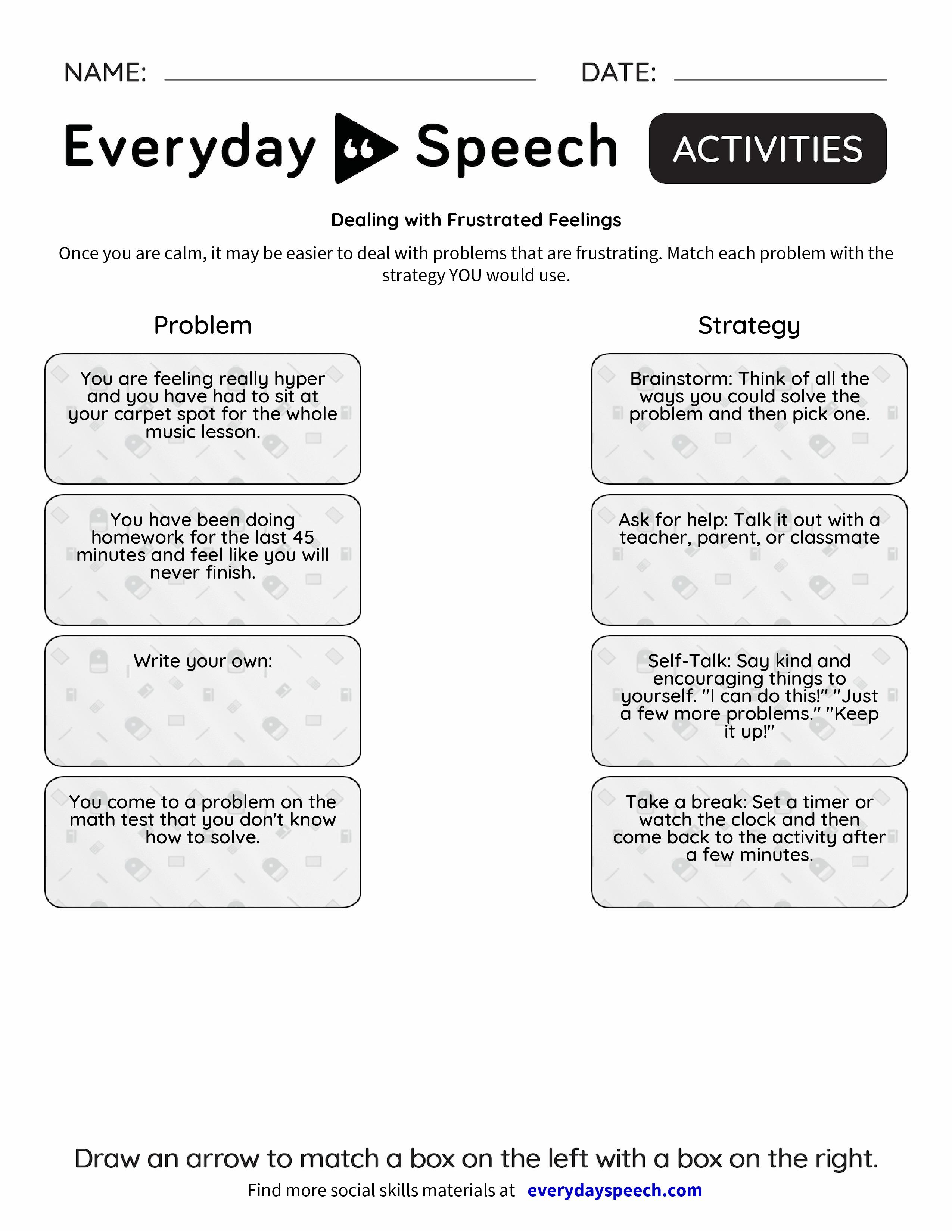 Worksheets – Social Problem Solving Worksheets
