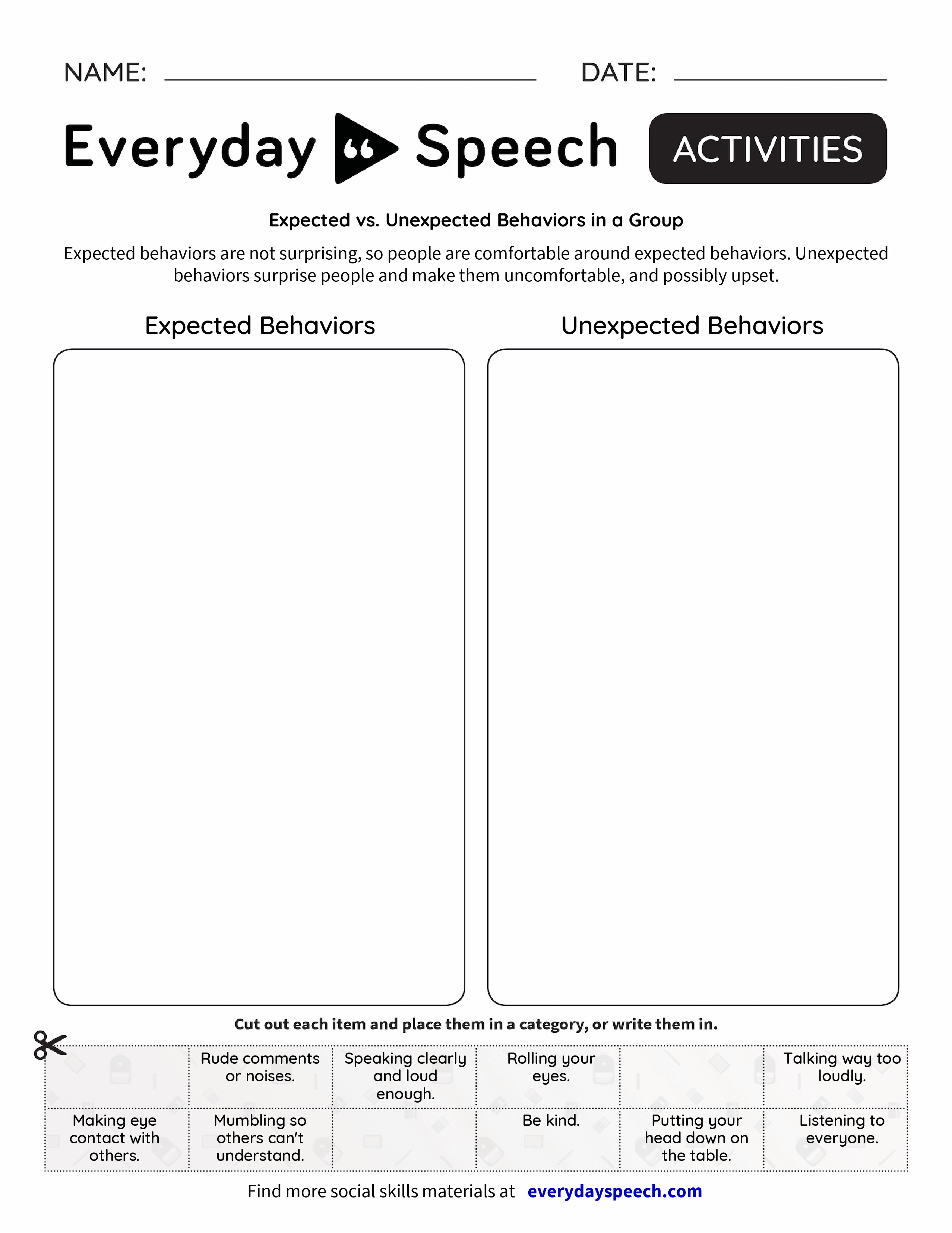 What Others Are Thinking About My Behavior - Everyday Speech ...