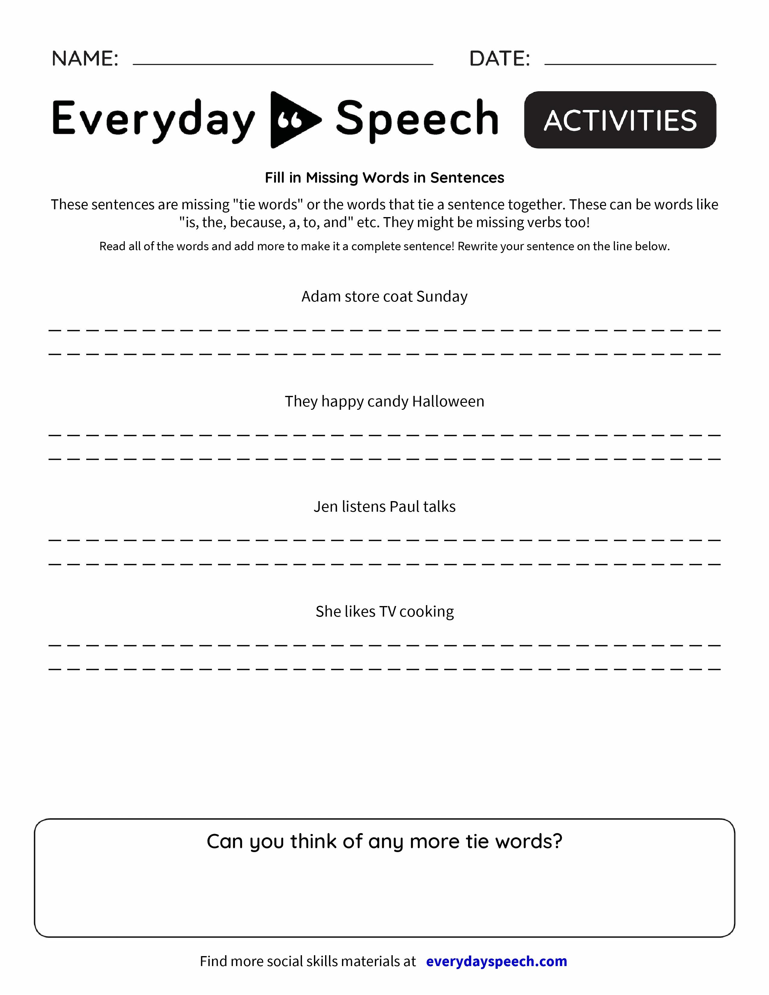 Complete Sentences Worksheets Kubreforic