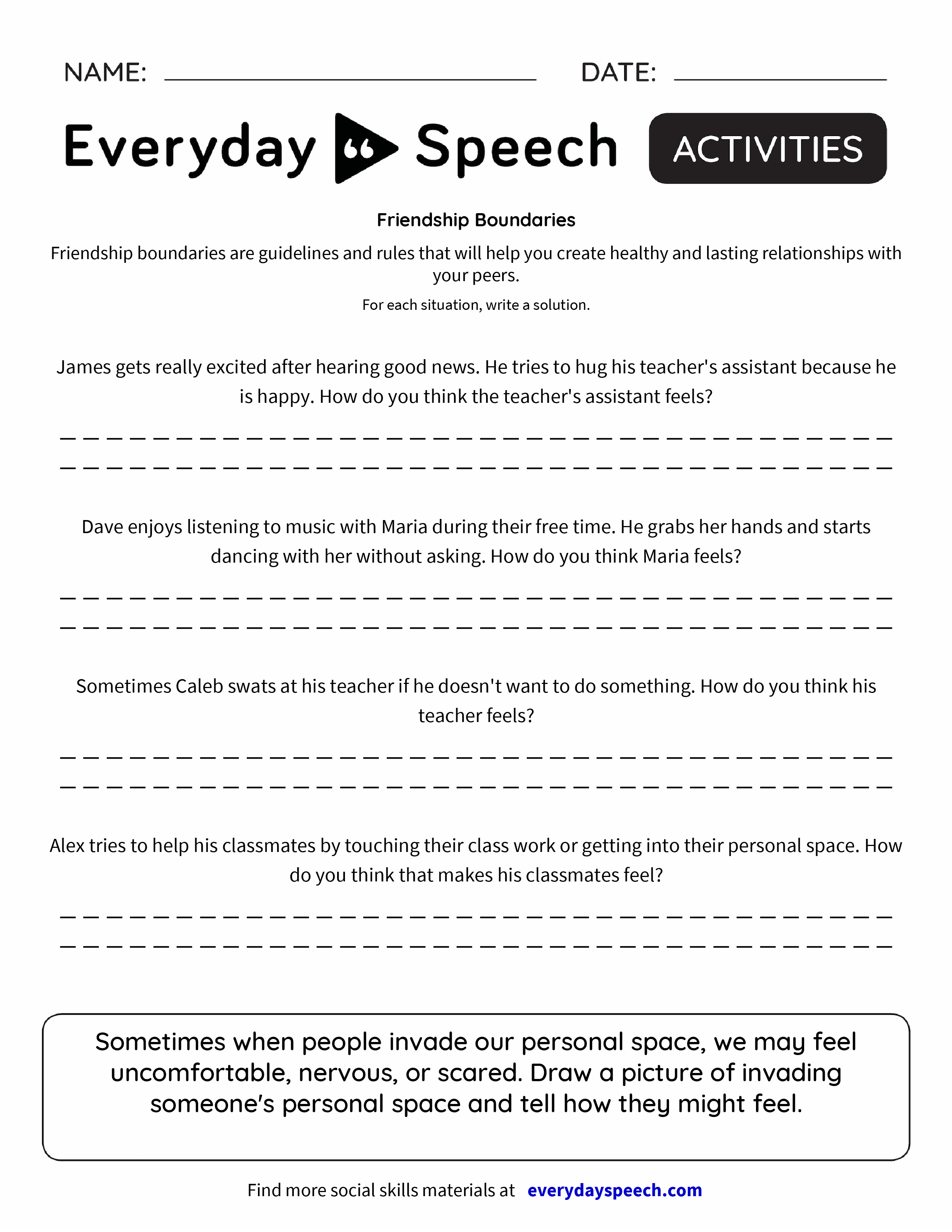 Friendship Boundaries - Everyday Speech - Everyday Speech