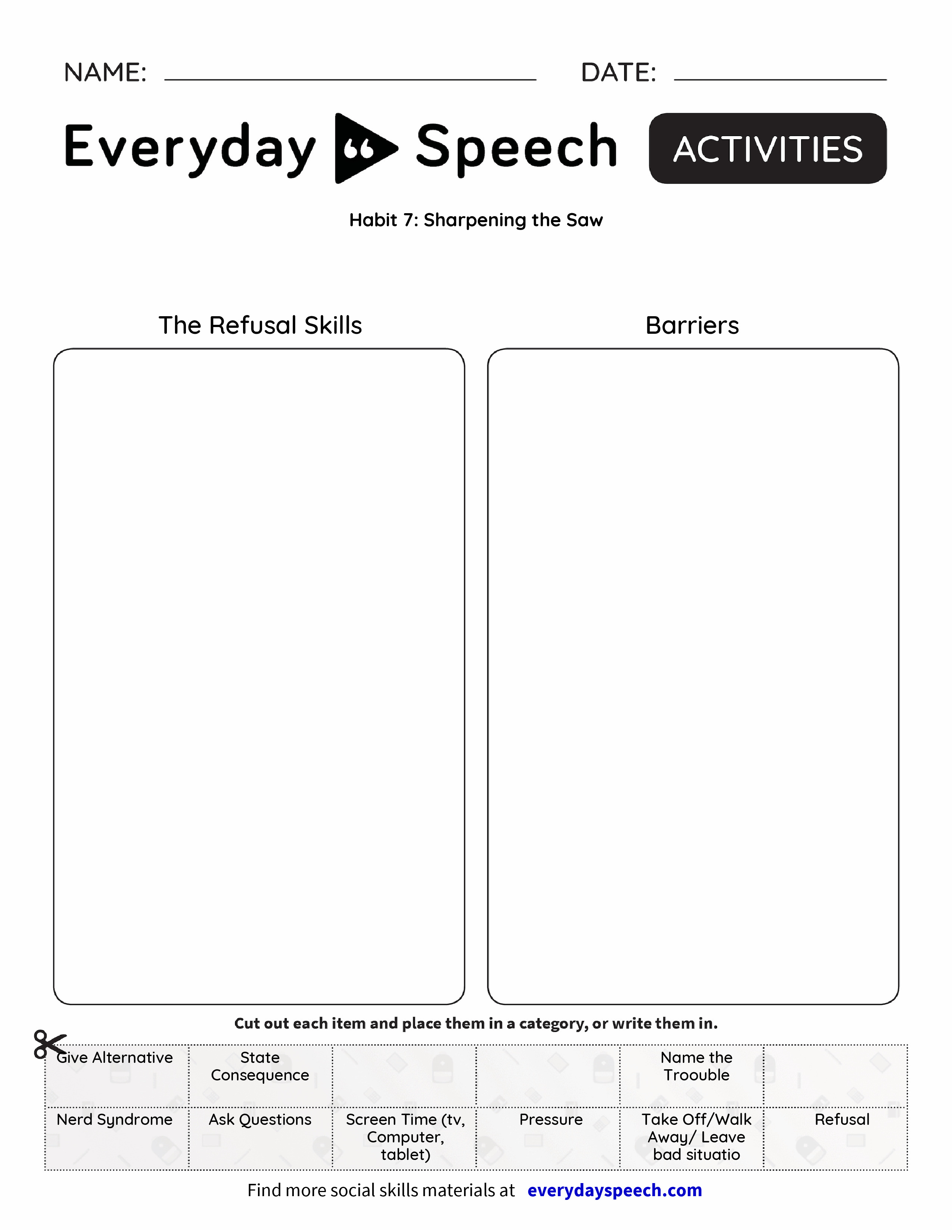 Habit 7: Sharpening the Saw - Everyday Speech - Everyday Speech