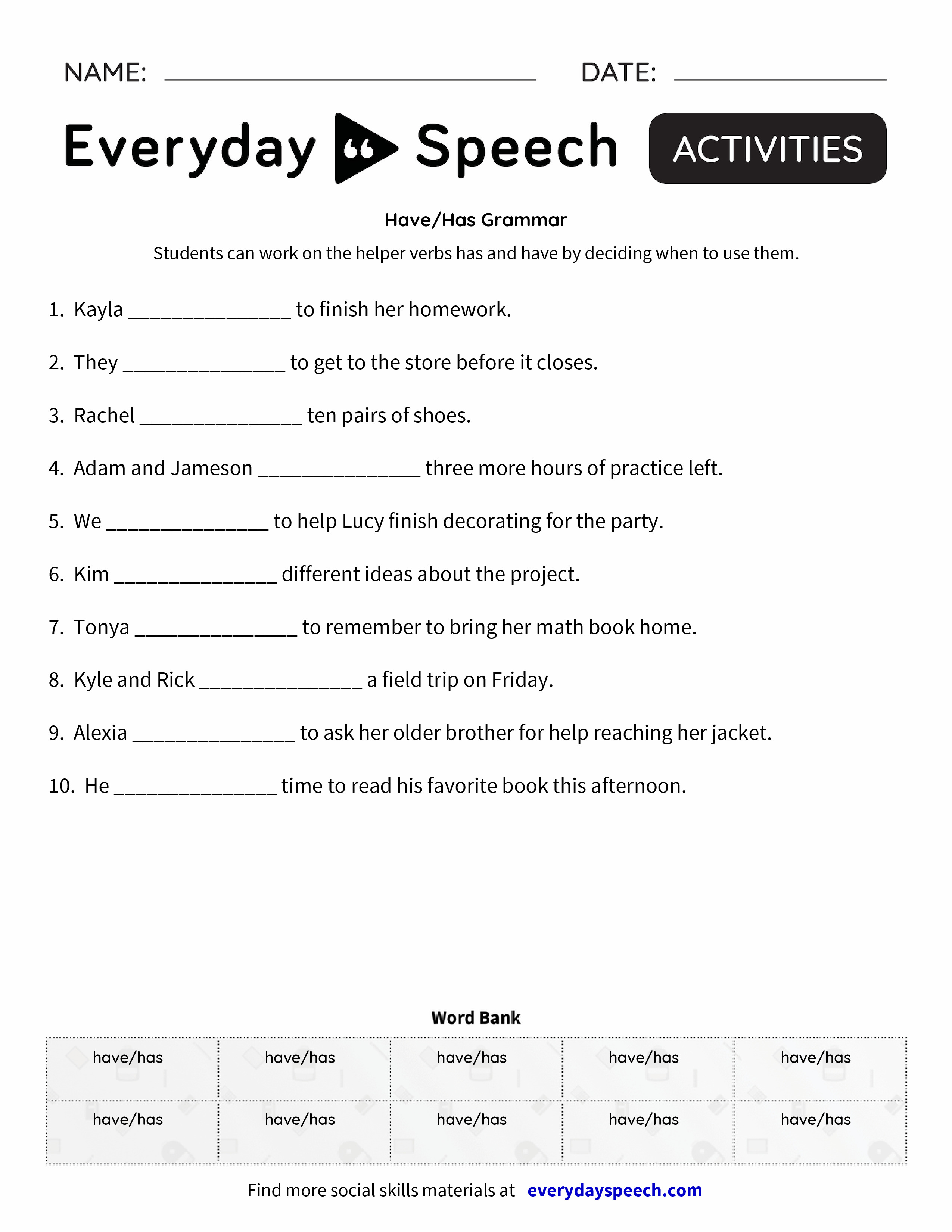 have has grammar everyday speech everyday speech. Black Bedroom Furniture Sets. Home Design Ideas