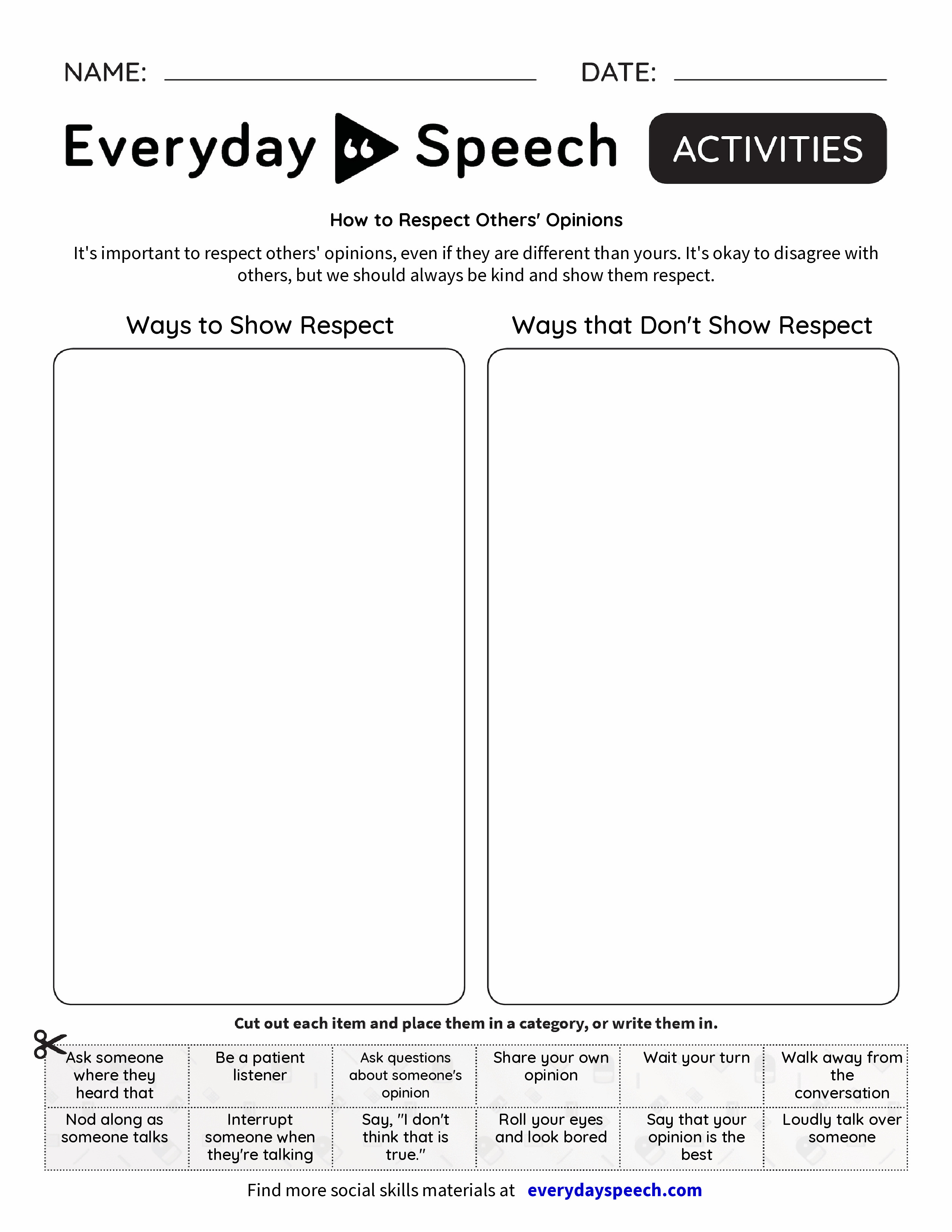 How to Respect Others' Opinions