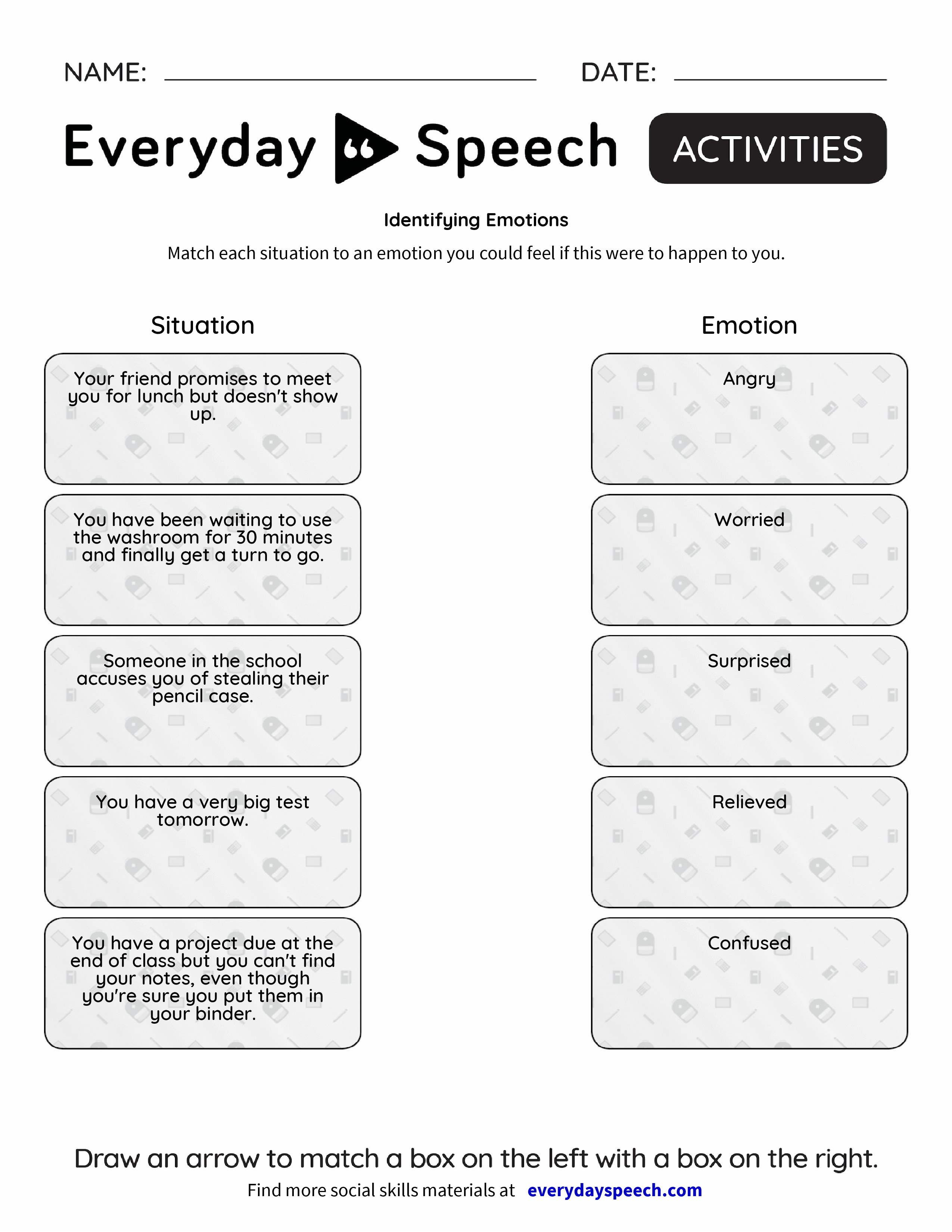 List Of Synonyms And Antonyms Of The Word Identifying Emotions For