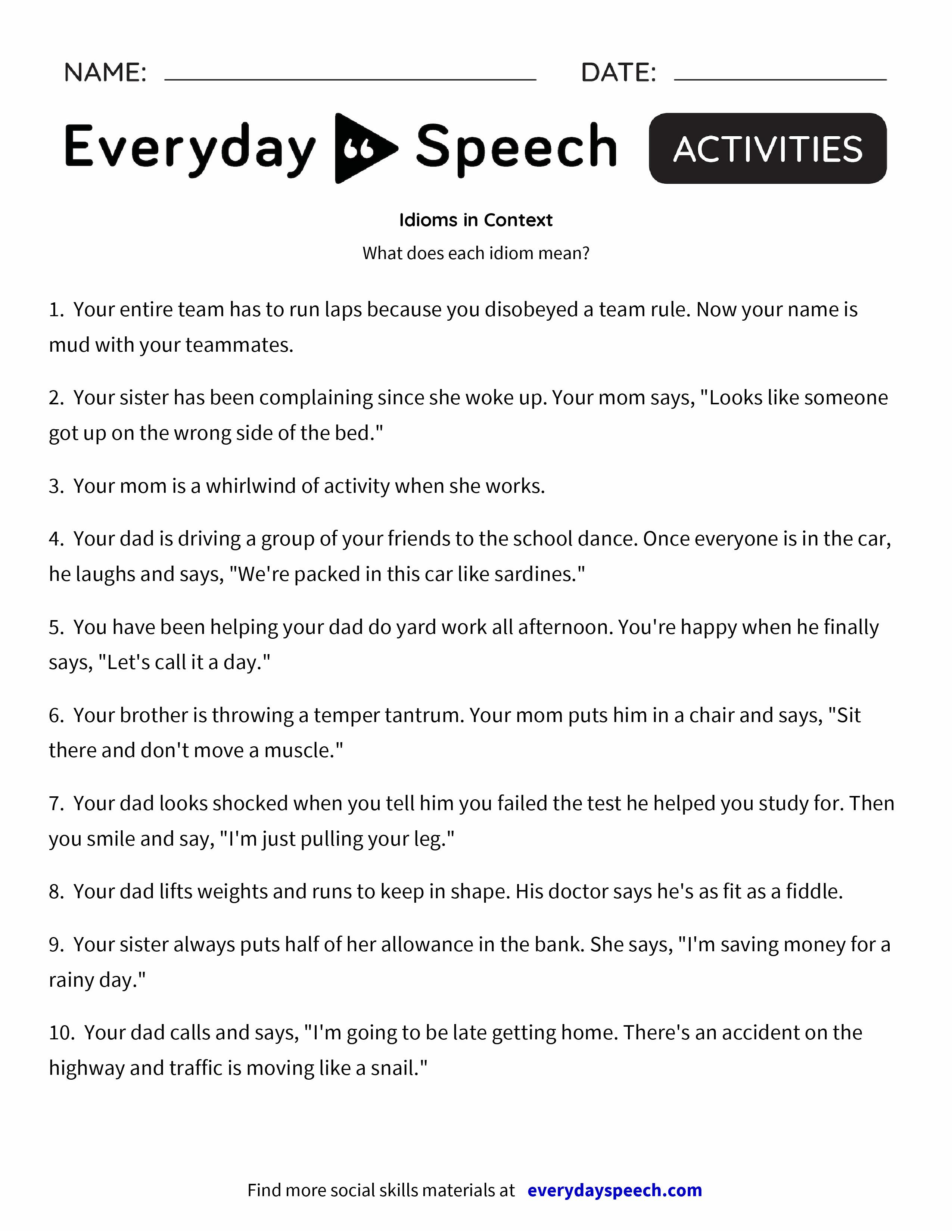 worksheet. Identifying Parts Of Speech Worksheet. Worksheet Fun ...