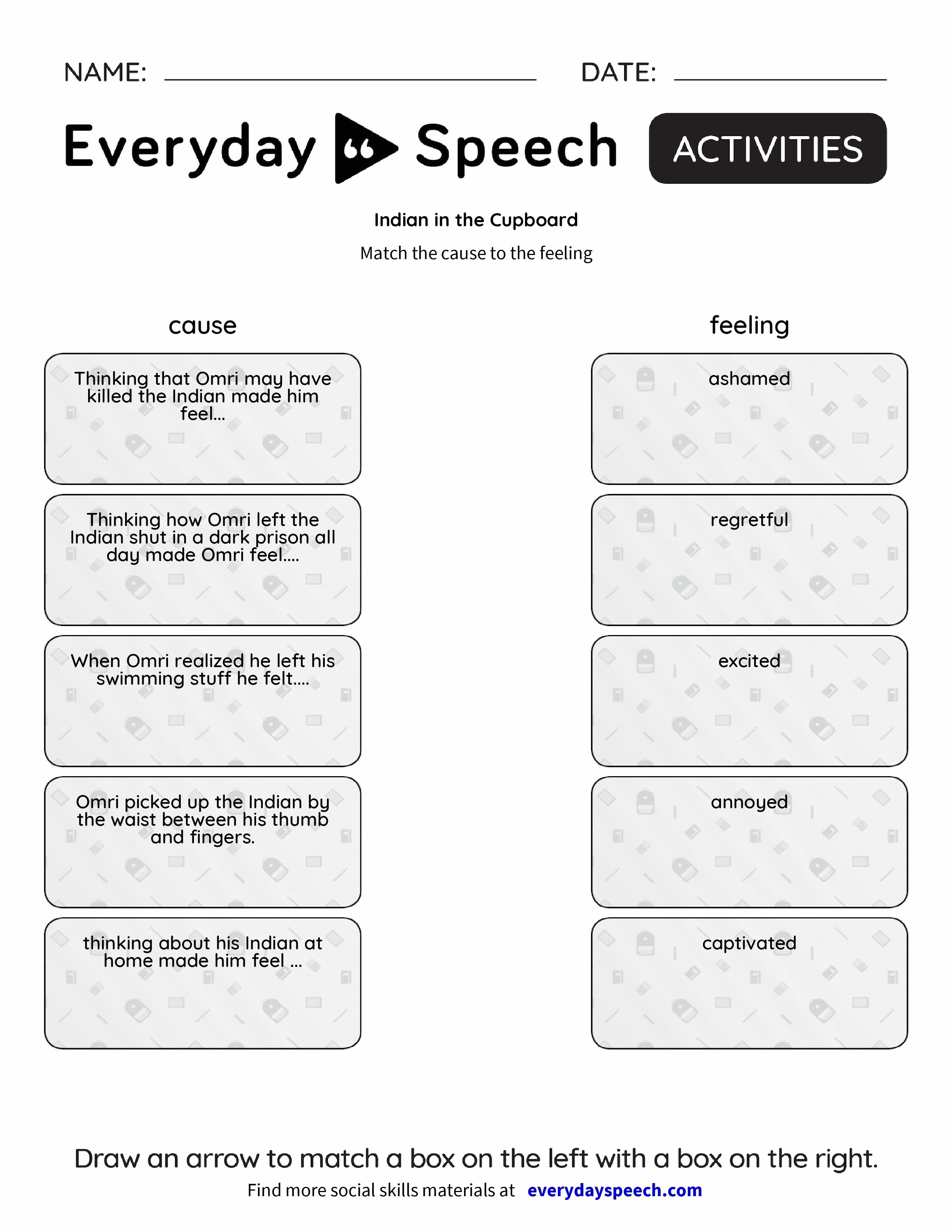 Indian In The Cupboard Everyday Speech Everyday Speech