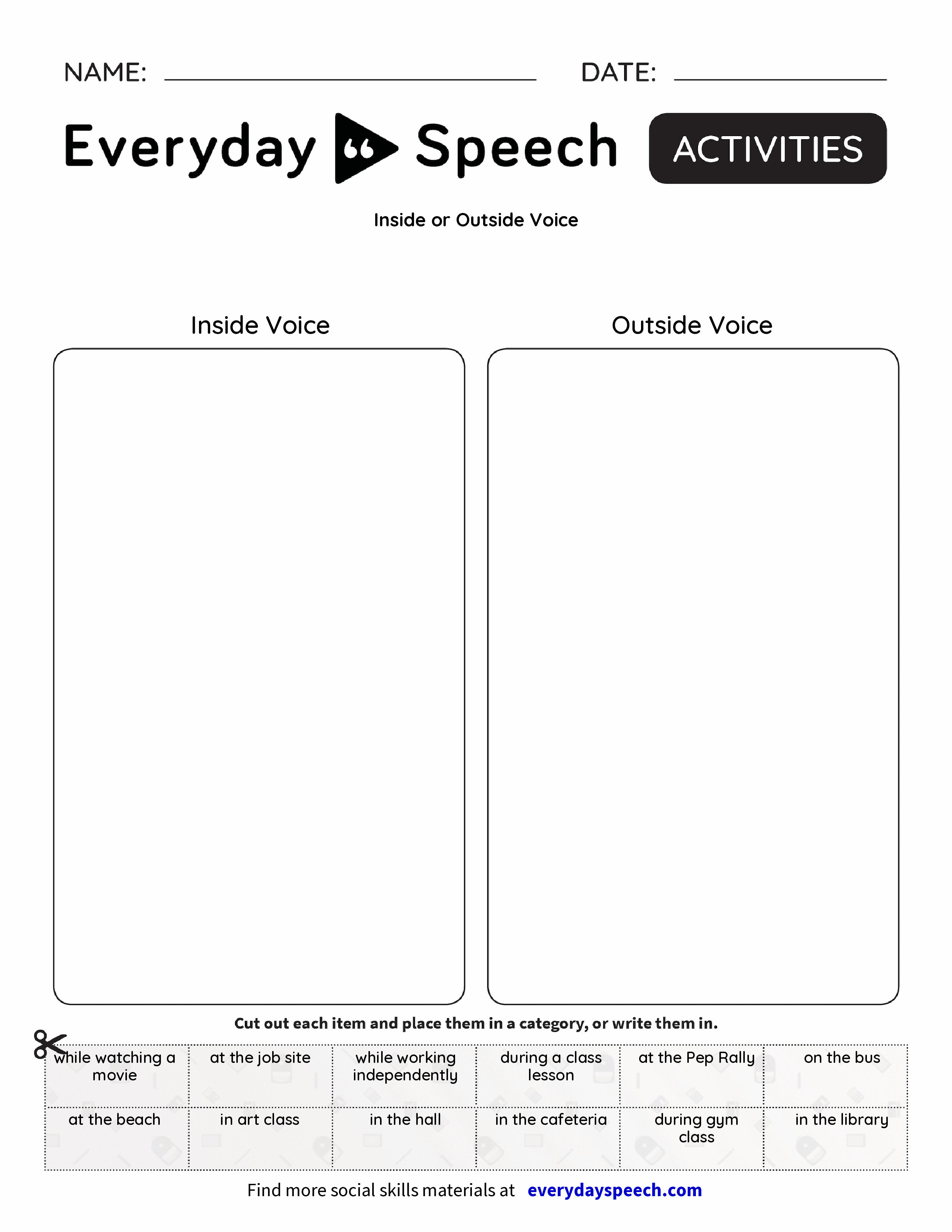 Inside or Outside Voice
