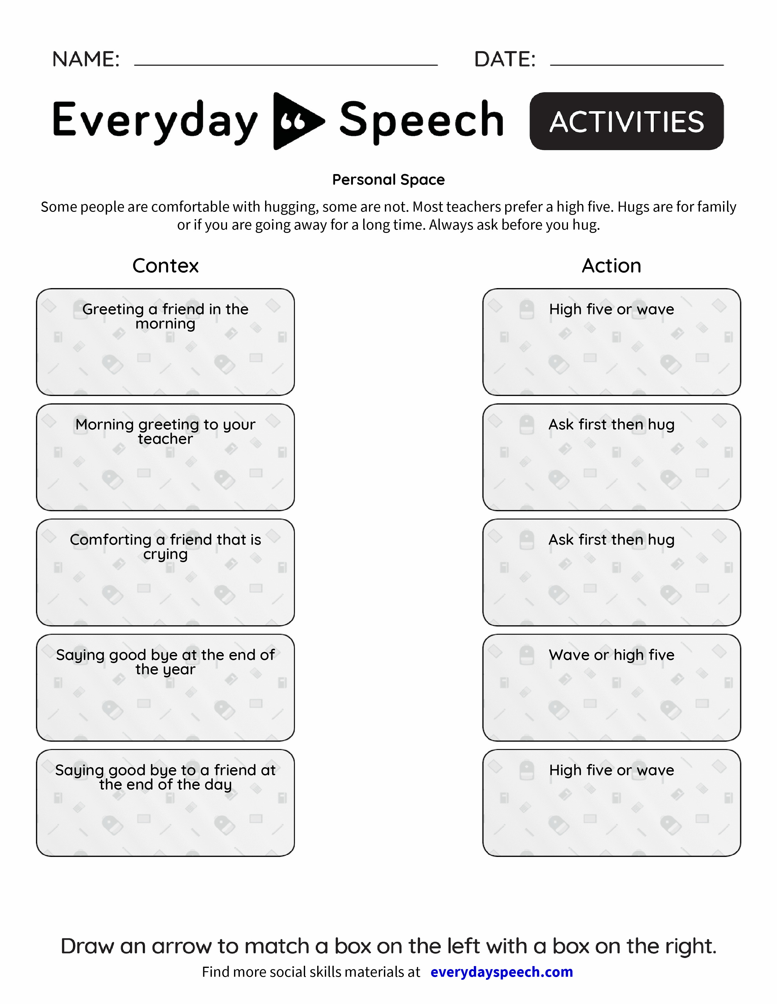 personal space worksheets Termolak – Personal Boundaries Worksheet