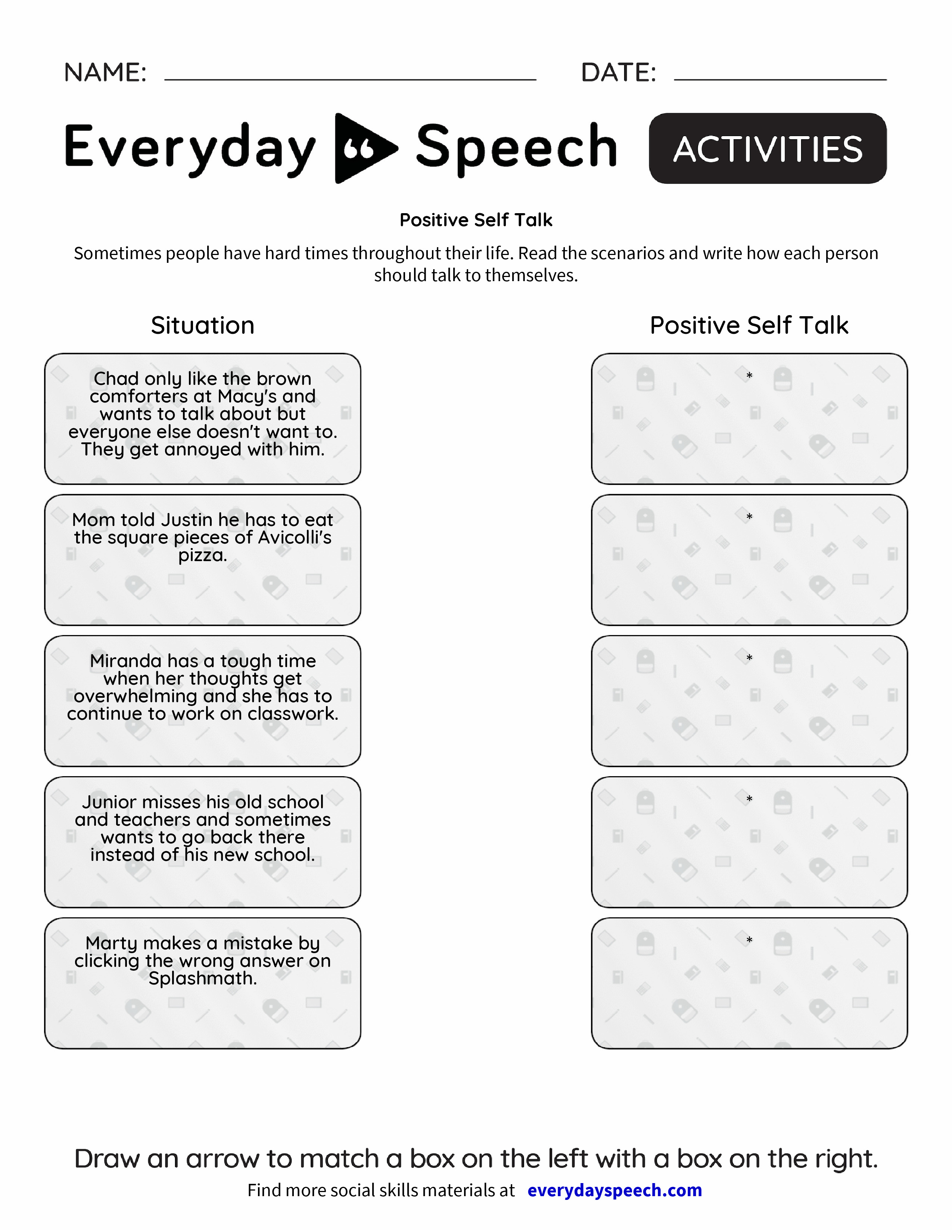 How to Teach Positive Self-Talk | Free, Counselling and School