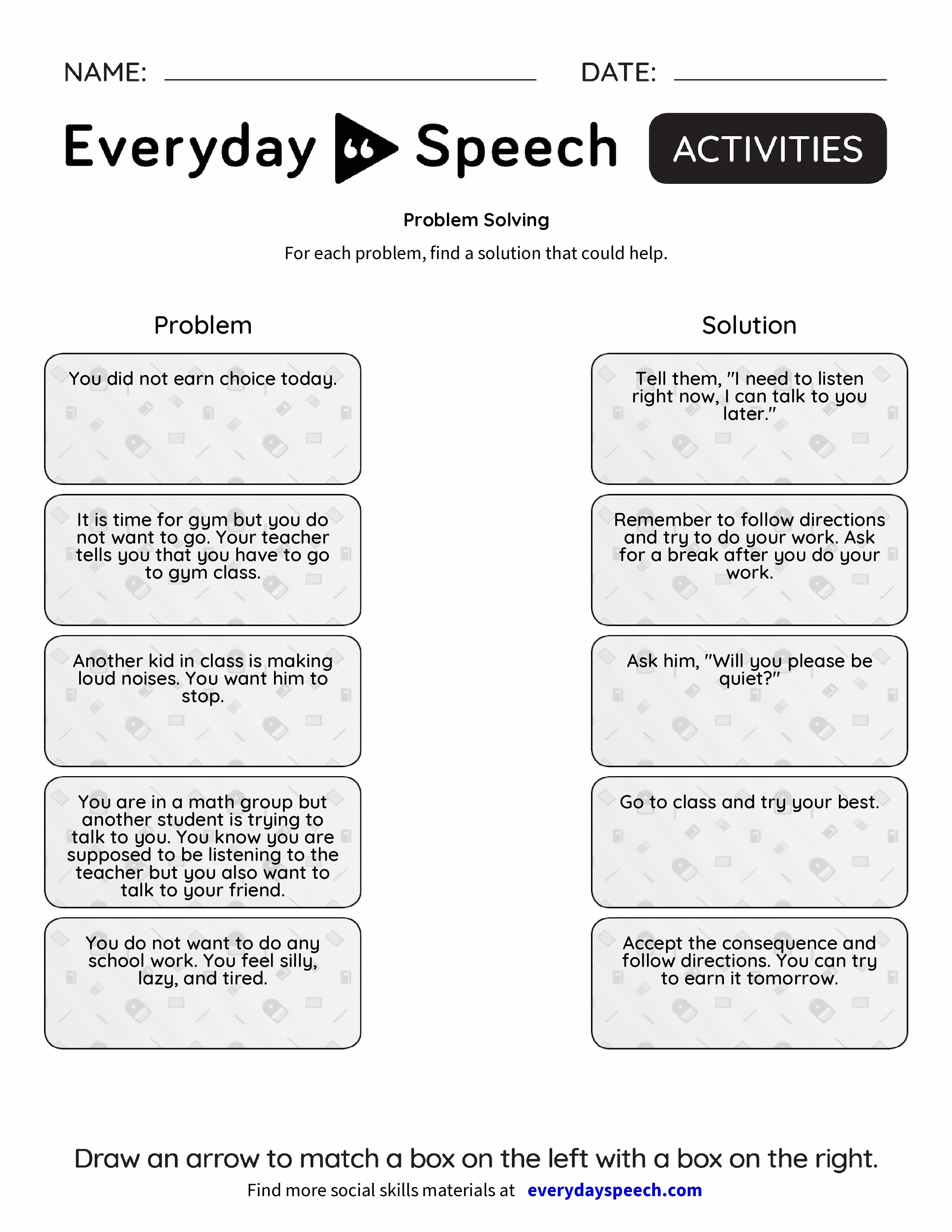 worksheet Problem Solving Life Skills Worksheets problem solving everyday speech preview preview