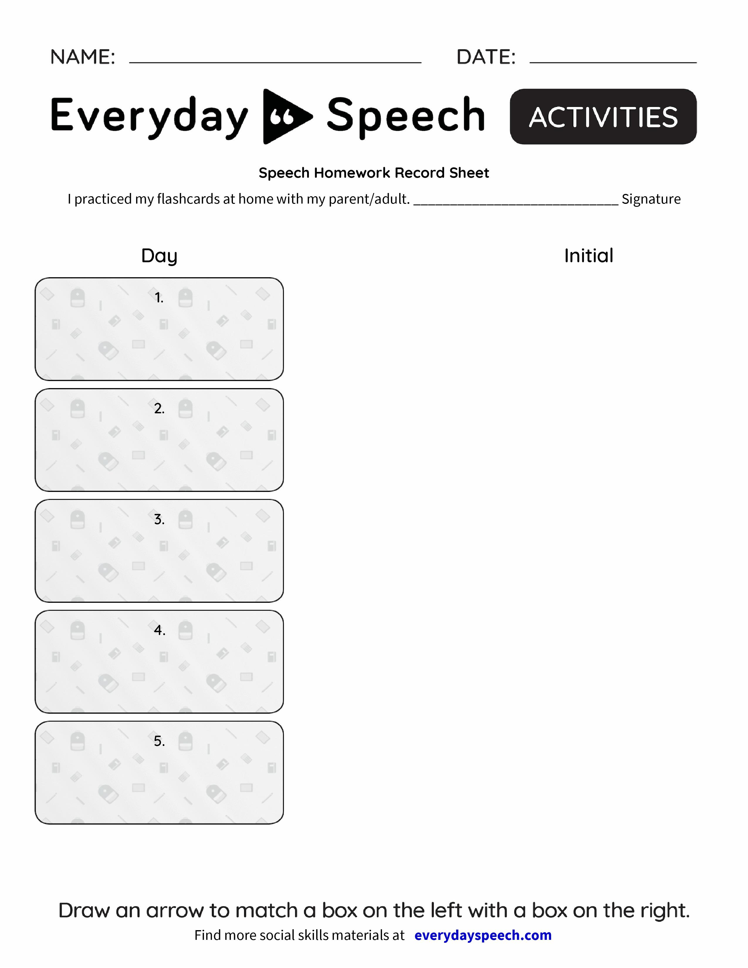 speech on homework