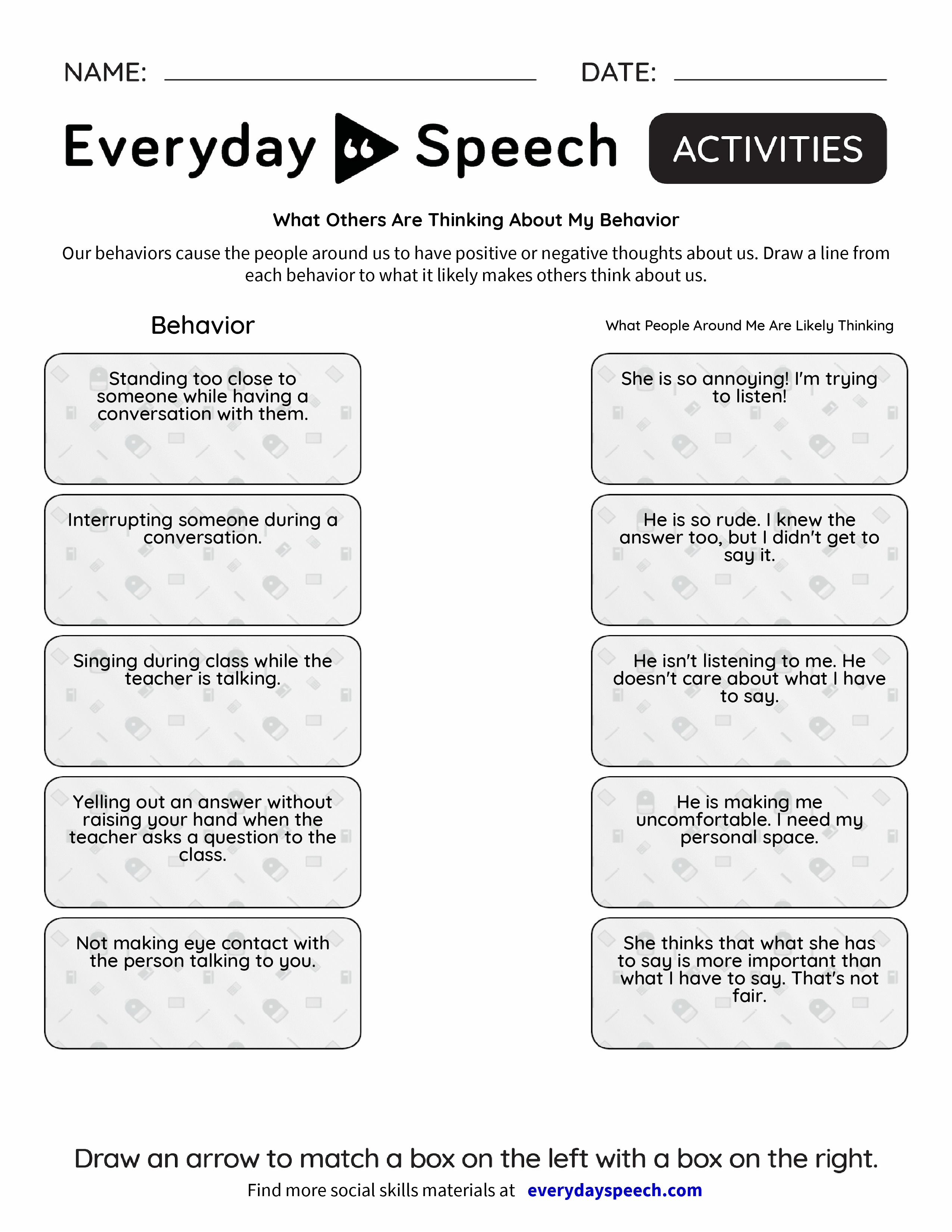 What Others Are Thinking About My Behavior Everyday Speech