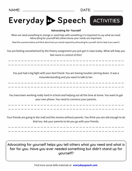 Trending Worksheets | Everyday Speech - Everyday Speech