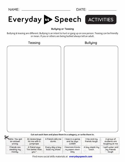Bullying or Teasing