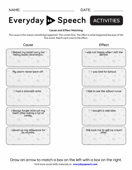 Cause and Effect Matching