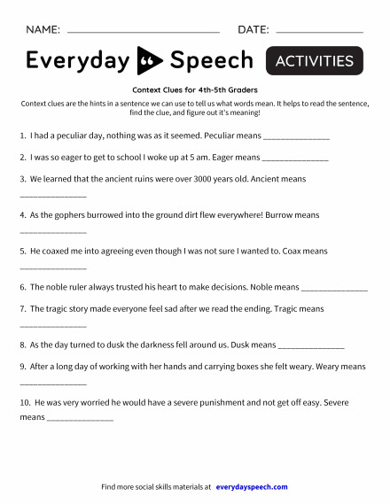 Estimating Measurement Worksheets Excel Most Downloaded Worksheets  Everyday Speech  Everyday Speech What Is A Worksheet In Excel Excel with Math Worksheets Color By Number Context Clues For Thth Graders The Mole And Volume Worksheet Answer Key Word