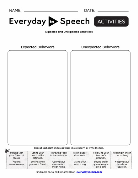 Expected and Unexpected Behaviors