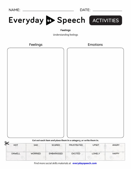 Most Downloaded Worksheets Everyday Speech Everyday Speech