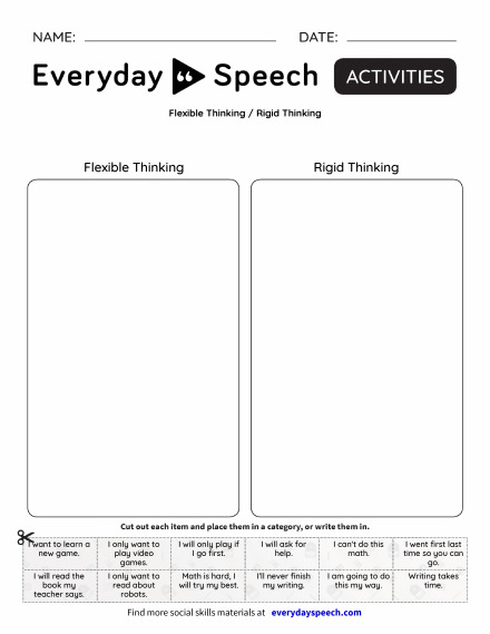 Flexible Thinking / Rigid Thinking