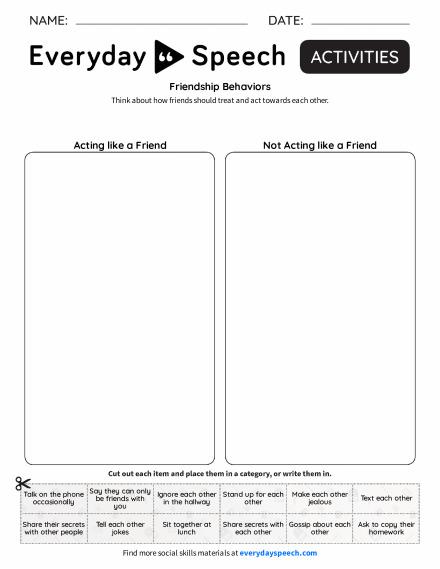 Friendship Behaviors