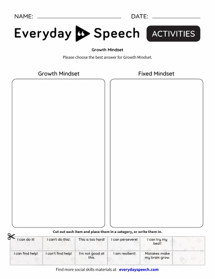 Growth Mindset Everyday Speech Everyday Speech