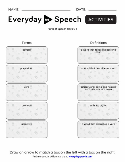 Parts of Speech Review II