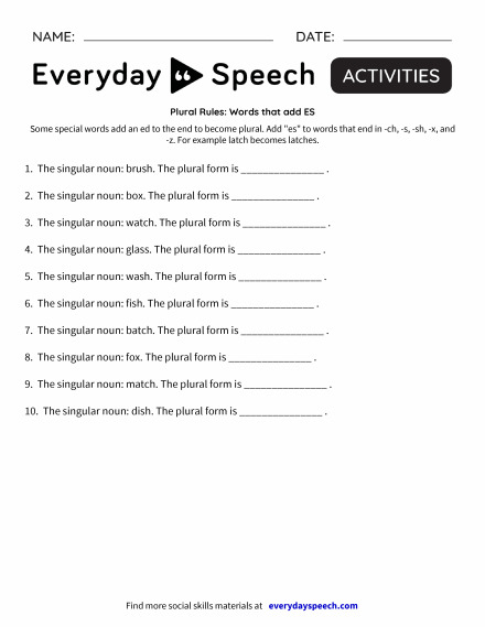 Newest Worksheets Everyday Speech Everyday Speech