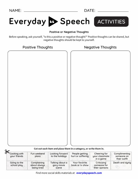 Positive or Negative Thoughts