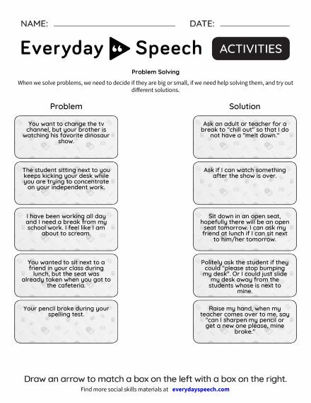 Trending Worksheets | Everyday Speech - Everyday Speech