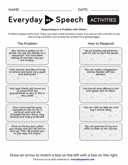 SLP – Responding to a Problem with Others