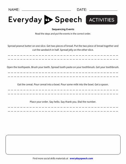 Trending worksheets everyday speech everyday speech sequencing events ibookread PDF