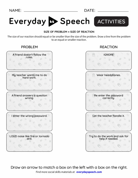 Most Viewed Worksheets Everyday Speech Everyday Speech