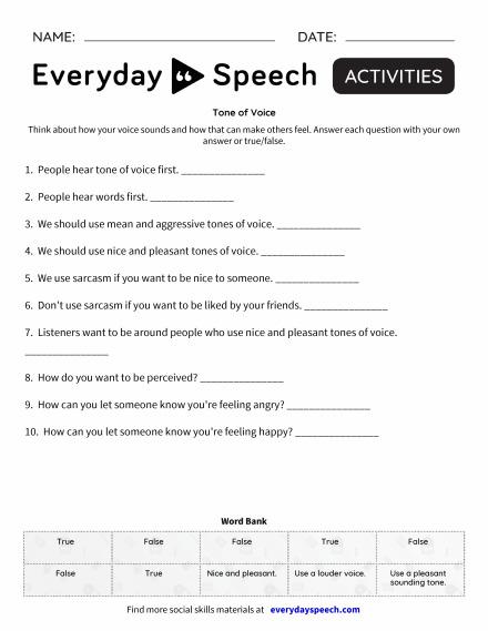 Trending Worksheets Everyday Speech Everyday Speech