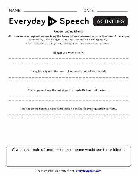 Understanding Idioms