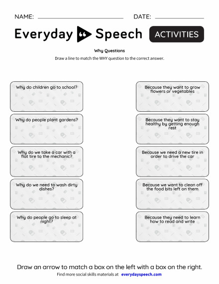 Why Questions Everyday Speech Everyday Speech